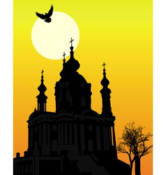 st andrews church in kiev vector image