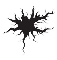 crack vector image