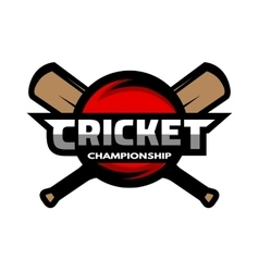 Cricket sports label badge emblem vector