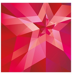 Red star with the verge on the abstract background vector