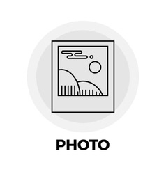 Photo line icon vector