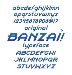 Banzai typeface vector