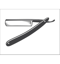 Old straight razor vector