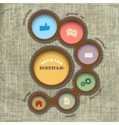web design template Retro style vector image