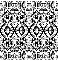 Seamless abstract black and white tribal vector