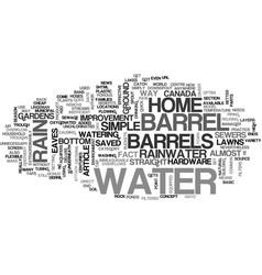Back to barrels text word cloud concept vector