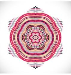 Colorfull ornamet snowlake vector