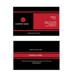 corporate business card vector image