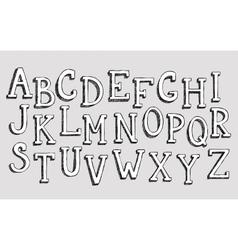 Doodle 3d alphabet vector image