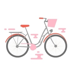 flat bicycle vector image