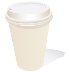 generic coffee cup vector image