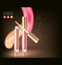 glossy lipstick cosmetic concept vector image vector image