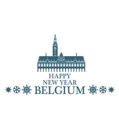 Greeting card belgium vector