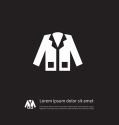 Isolated coat icon jacket element can be vector