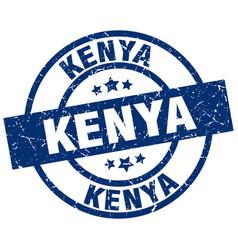 Kenya blue round grunge stamp vector
