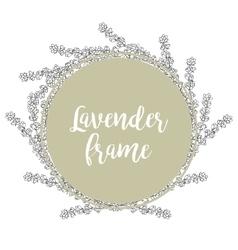 Lavender Template of a circular frame vector image vector image