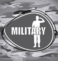 military emblem vector image