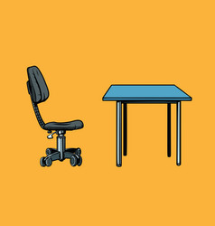 office chair and table vector image vector image