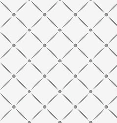 Perforated square grid with nods vector image vector image