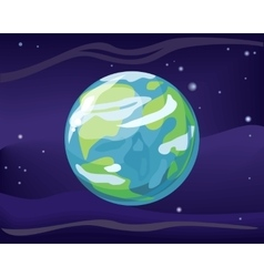 Planet earth in space background vector