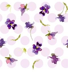 Plants in watercolor vector image vector image