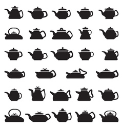 Pot And Kettle Collection vector image vector image