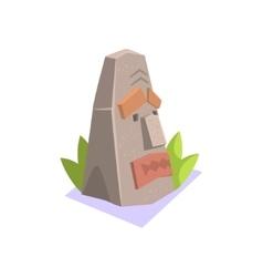 Rock pagan monument jungle village landscape vector