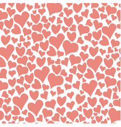 seamless doodle hearts pattern background vector image vector image