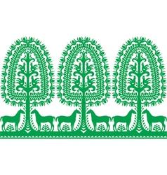 Seamless Polish folk art pattern Wycinanki vector image