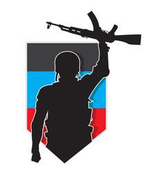 Soldier dpr emblem vector