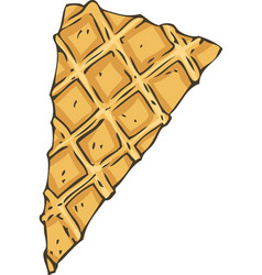 Thin waffles wedge for a pastry decoration vector