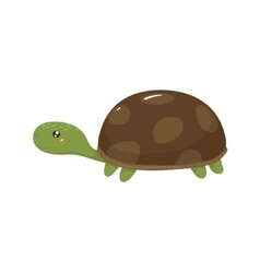 Tortoise realistic childish vector