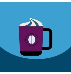 Flat icon design collection cup of vector