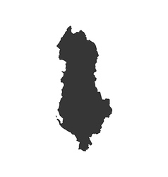 Albania map silhouette vector image