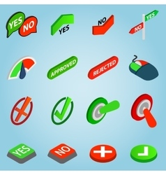 Selection set icons isometric 3d style vector