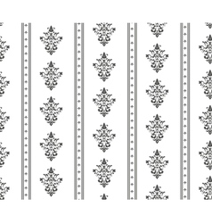 Monochrome seamless classic pattern vector image