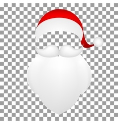 Template Santa Claus his mustache with a beard vector image
