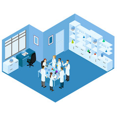 Isometric science laboratory concept vector