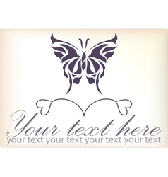 Beautiful vintage retro butterfly vector image