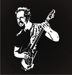 Guitarist stencil art vector