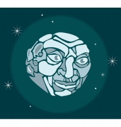 man in the moon vector image