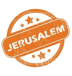 Jerusalem round stamp vector