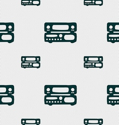 Radio receiver amplifier icon sign seamless vector