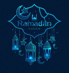 Greeting card ramadan kareem vector