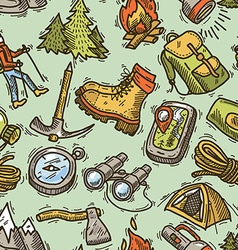 Hike seamless pattern vector