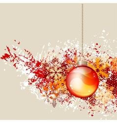 hanging christmas ball vector image