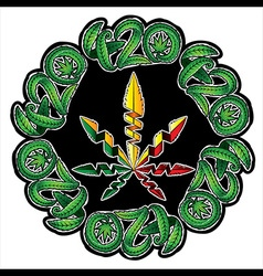 420 marijuana symbolic with leaf vector
