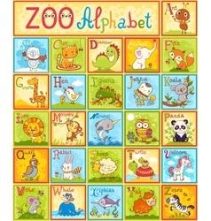 alphabet with animals vector image