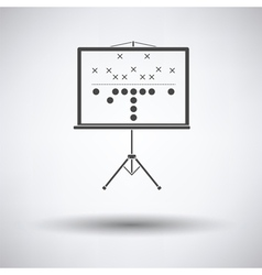 American football game plan stand icon vector image