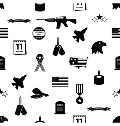 American veterans day celebration seamless pattern vector